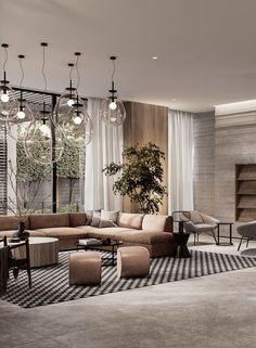 Lobby Design by Asthetíque Apartment Interior, Home Living Room, Interior Design Living Room, Living Room Designs, Living Room Decor, Design Room, Bedroom Decor, Luxury Home Decor, Luxury Interior Design