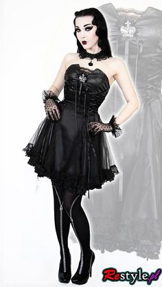 Q-120 Punk Rave gothic lolita, gothabilly, tulle,lace dress