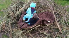Building a nest at Chadwell Preschool