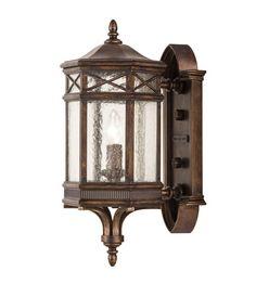 Fine Art Lamps Holland Park 1 Light Outdoor Wall Mount in Warm Antique Bronze 844881ST #lightingnewyork #lny #lighting