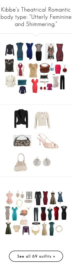 """Kibbe's Theatrical Romantic body type: ""Utterly Feminine and Shimmering."""" by in-vero-pulcritudo ❤ liked on Polyvore featuring Emilio Pucci, Armani Collezioni, Ann Taylor, Alexander McQueen, Jason Wu, Nordstrom, Vivienne Westwood Red Label, Valentino, Chloé and Vivienne Westwood Anglomania"