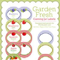 Add a Finishing Touch to Your Canning Jars with These Free Labels: Garden Fresh Canning Jar Labels by Ink Tree Press Canning Jar Labels, Canning Recipes, Printable Labels, Free Printables, Labels Free, Printable Recipe, Gift Labels, Gift Tags, Envelopes