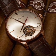 a11632cab52 H. Moser   Cie Venturer Tourbillon Dual Time in red gold