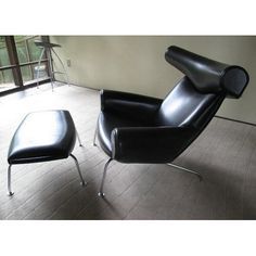 Classic sofa living room Luxury black leather OX lounge chair and Ottoman - China Office Chairs & Fiberglass Leisure Seating Manufacturer in Alibaba Ox Chair, Chair And Ottoman, Cushions On Sofa, Office Chair Price, Cheap Office Chairs, Faux Leather Couch, Black Leather Sofas, Outdoor Furniture Chairs, Classic Sofa