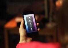 Flat minimalistic mobile app