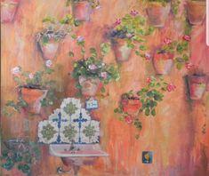 #blumenvase #Mauerdeko #Kunst #ölmalerei Create Yourself, Etsy Seller, Creative, Painting, Art, Painted Canvas, Vase For Flowers, Deko, Painting Art