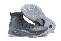 426dc59a758 2017 Under Armour Curry 4 Grey Wolf Grey-White. Curry Basketball  ShoesBasketball ...