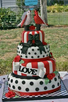 Rockabilly Wedding Cake Wild Mulberry Baking Co Bakery Denver - Rockabilly birthday cake