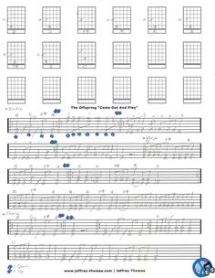 The Offspring Come Out And Play Guitar Tab by Jeffrey Thomas. Find more popular guitar tabs on my site and set up your free Skype guitar lesson today!