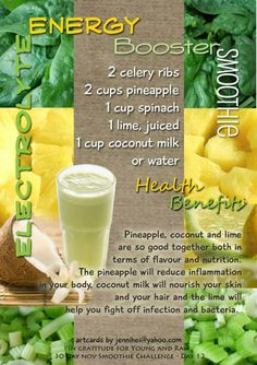 Young and Raw 30 Day Green Smoothie Challenge Recipes for November! Celery Smoothie, Apple Smoothies, Juice Smoothie, Smoothie Drinks, Healthy Smoothies, Smoothie Recipes, Green Smoothies, Smoothie Cleanse, Healthy Drinks