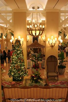 beach club lobby at christmastime crescent lake beach club disney world christmas pixie - When Is Disney World Decorated For Christmas