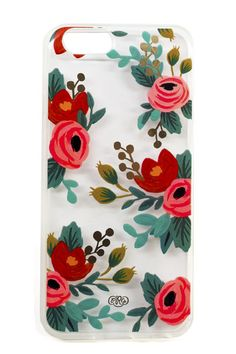 Rosa iPhone 6 Case. We love the way this illustrated clear case looks like a wearable painting for your phone! Snag yours on www.mooreaseal.com