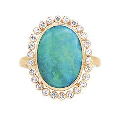jamie joseph rings | Jamie Joseph Australian Opal and Diamond Ring | Greenwich Jewelers