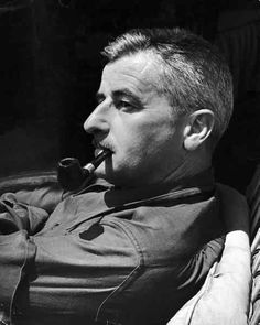 """""""It begins with a character, usually, and once he stands up on his feet and begins to move, all I can do is trot along behind him with a paper and pencil trying to keep up long enough to put down what he says and does."""" ― William Faulkner"""