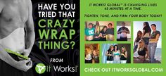 This football season, It Works! had the opportunity to sponsor a College Football Bowl game! In honor of tonight's BCS National Championship Game, we want to share that REAL MEN WRAP TOO (including my husband)! Al Woods of the Pittsburgh Steelers and Robert Meachem of the San Diego Chargers tried that crazy wrap thing! What are you waiting for? Let's get wrapped!!!    www.getwrappedamerica.com