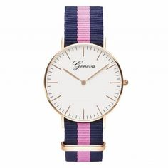 Daniel Wellington's Classic Canterbury is a timeless wrist watch with a white dial and rose gold details, perfectly matched with the playful Canterbury NATO strap. Southampton, Daniel Wellington Women, Dw Watch, Pink Watch, Watch Band, Bracelet Nato, Nato Strap, Canterbury, Rose Gold