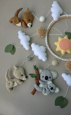 Australian animals baby mobile koala kangaroo parrot mobile image 7 Nursing moms for the very