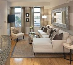 SmallRoom Solutions Living Rooms Wall trim Sheer curtains and