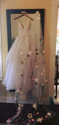 - Cathedral Length Customized Floral Veil wedding dresses with veil Custom Floral Cathedral Wedding Veil Flower Wedding Veil Custom Wedding Veil Chapel Wedding Veil Whimsical Wedding Veil Perfect Wedding, Dream Wedding, Wedding Day, Trendy Wedding, Wedding Trends, Wedding Bride, Budget Wedding, Cool Wedding Ideas, Fantasy Wedding