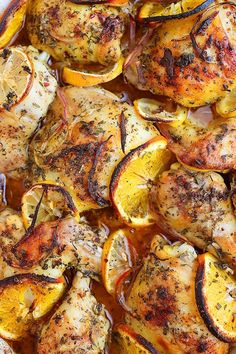 Herb & Citrus Oven Roasted Chicken by comfortofcooking #Chicken #Citus
