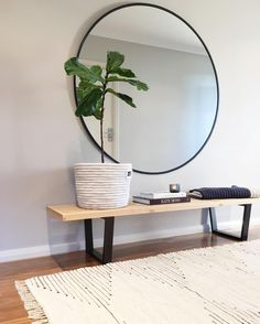 Regardez cette photo Instagram de @megtimjakebay • 112 mentions J'aime Living Tv, Living Room Bench, Living Room Mirrors, Slow Living, House Essentials, Arch Mirror, Bench Decor, New Room, Architecture Design