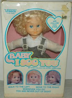 0c1424bc8507e Uneeda Baby I See You Doll Dolly in Original Box Unplayed With New Old Stock  26253713917