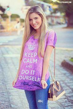 #camisetas femininas http://modafeminina.biz/camisetas-da-moda/camisetas-kepp-calm-para-mulheres