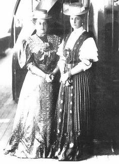 Anna Vyrubova and Alexandra Feodorovna, c.