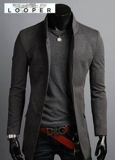 Gray monochrome w d&g leather belt + dark boot cut jeans http://www.pinterest.com/tiffanymcivor/mens-fashion-top-picks/