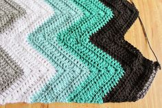 I love chevron blankets. They are retro and modern crochet all at the same time. Pick a palette, go scrappy or just one solid color. You...