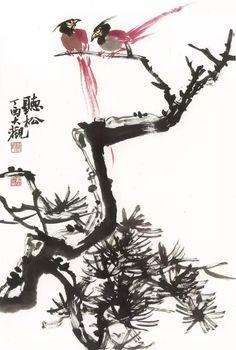 #BrushPaintingPinetree #ChineseInkPainting #OrientalBrushPainting