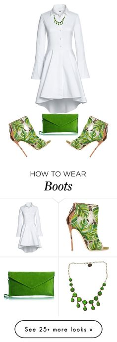 """Untitled #4986"" by browneyegurl on Polyvore featuring Lands' End, Dsquared2 and Line Vautrin"
