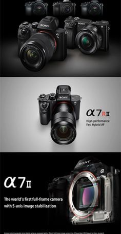 A worldwide leader in digital imaging and the world's largest image sensor manufacturer, Japanese electronics giant, Sony, has announced their new flagship a Sony II. There are many new ground-breaking innovations that may move this camera to be leade Sony Digital Camera, Kodak Camera, Camera Gear, Sony A7s Ii, Cinema Camera, Photography Camera, Photography Equipment, Best Camera, Camera Accessories