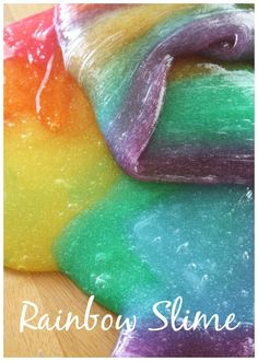 Rainbow Slime Colored Slime Mixing Activity. Make easy slime with kids with our homemade glue and starch slime recipe.