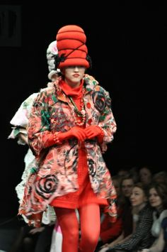 Russian Fashion Week. Yaga fabrics in Slava Zaitsev's Collection Autumn/Winter 2009/2010