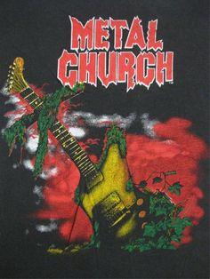 METAL CHURCH vintage 1987 tour SHIRT