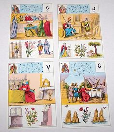 """Grimaud """"Grand Jeu de Mlle Lenormand"""" Fortune Telling Cards, aka """"Astro Mythological By Mlle Lenormand,"""" c.1977"""