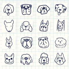 Vector File of Doodle Dog Breed Icon Set Doodle Drawings, Animal Drawings, Doodle Art, Easy Drawings, Doodle Dog Breeds, Tier Doodles, Logo Animal, Free Vector Art, Vector File