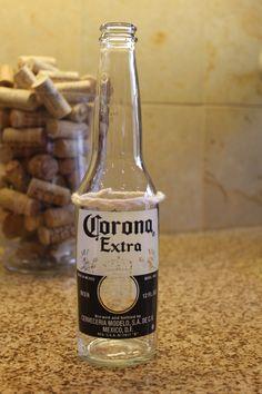 Vasos con botellas de cervezas!!! Lindos...