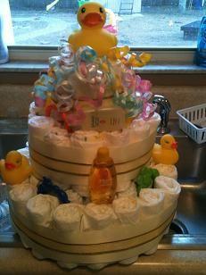 Ducky Diaper Cake #ducky #diaper #cake