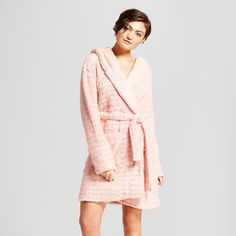 afaf6dd864ad12 Even when you have to get out of bed in the morning, stay as cozy as  possible with the Lurex Hooded Robe from Xhilaration™. This ultra-soft  striped robe is ...
