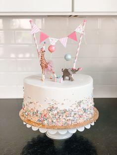 Girls 2nd Birthday Cake, Toddler Birthday Cakes, Dinosaur Birthday Cakes, Cute Birthday Cakes, Beautiful Birthday Cakes, Birthday Ideas, Birthday Themes For Girls, 2nd Birthday Pictures, 2 Birthday Cake