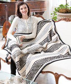 Polka Dot Dotty Throw - Free Crochet Pattern