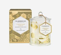 Limited Edition Christmas Cheer Passionfruit & Lemon Myrtle Triple Scented Candle by Glasshouse Fragrances Candle Packaging, Box Packaging, Packaging Design, Candles Online, Candle Accessories, Candle Diffuser, Perfume, Home Scents, Christmas Candles