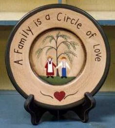 free images for primitive decor. | ... Family Circle Plate - Decorative Plates and Bowls - Primitive Decor