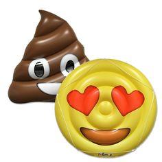 Emoji Brown Poo / Heart Eyes - Swimming Pool Rafts