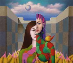 """Original Painting """"Bipolar 2014"""" by Jose Luis De la Barra"""