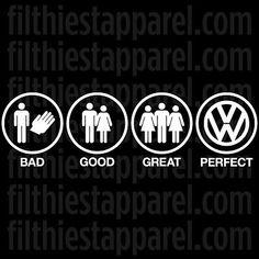 "VOLKSWAGEN VW ""PERFECT"" Decal Sticker BEETLE JETTA GOLF GTI MK3 MK4 MK5 MK6 R32 in eBay Motors, Parts & Accessories, Car & Truck Parts | eBay"