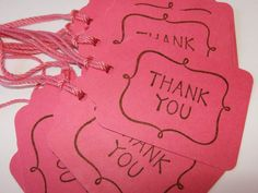 Gift Tags Thank You With Curlicues in Rosy by 3creativesisters Easy Teacher Gifts, Print On Paper Bags, Thank You Tags, Thank You Gifts, Gift Wrapper, Handmade Gift Tags, Christmas Gift Tags, Inspirational Gifts, Bipolar