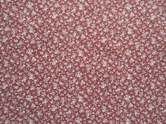 Rust Calico Fabric - Allover Floral - Quilters Cotton -  Price per Yard